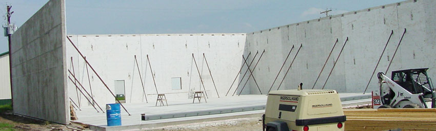 Tilt Up Concrete Slabs : Insulated tilt up economical design for high performance
